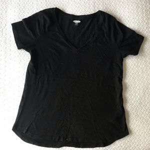 Old Navy Black V—Neck Everyday Shirt
